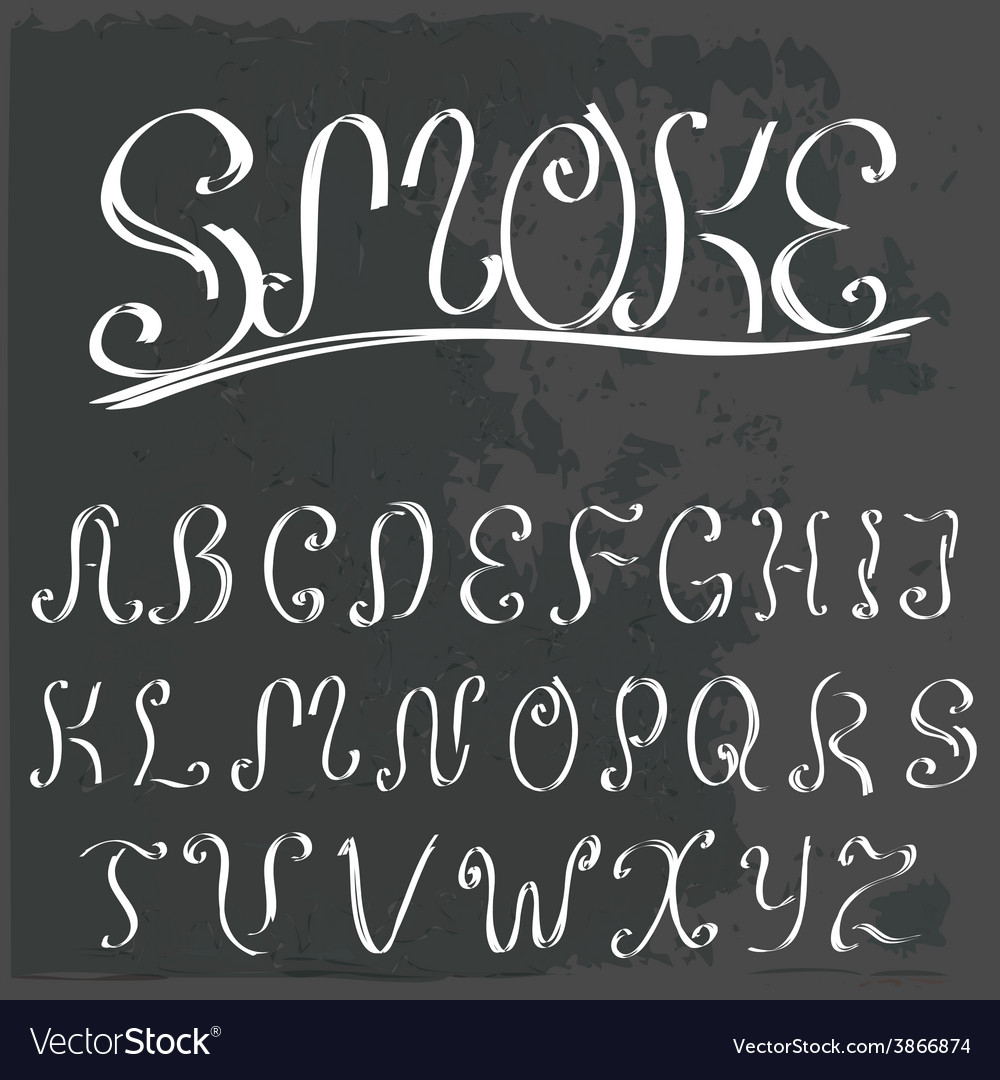 English vintage calligraphic alphabet vector | Price: 1 Credit (USD $1)