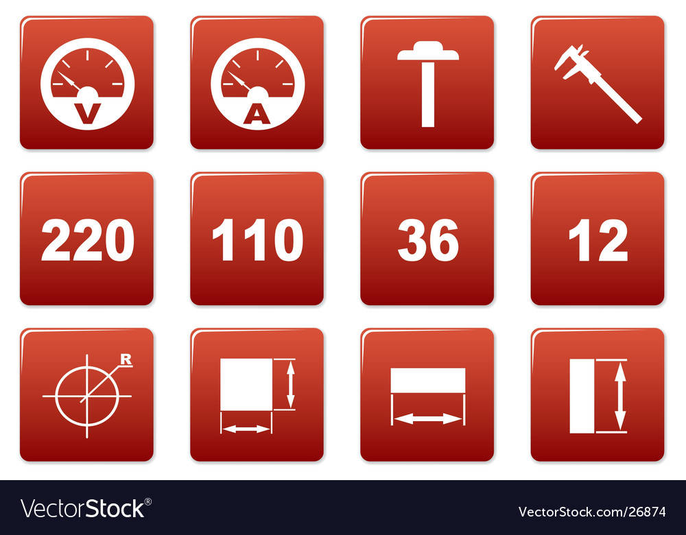 Gadget square icons vector | Price: 1 Credit (USD $1)