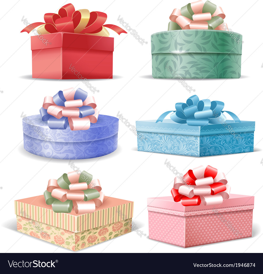 Gift boxes set vector | Price: 3 Credit (USD $3)