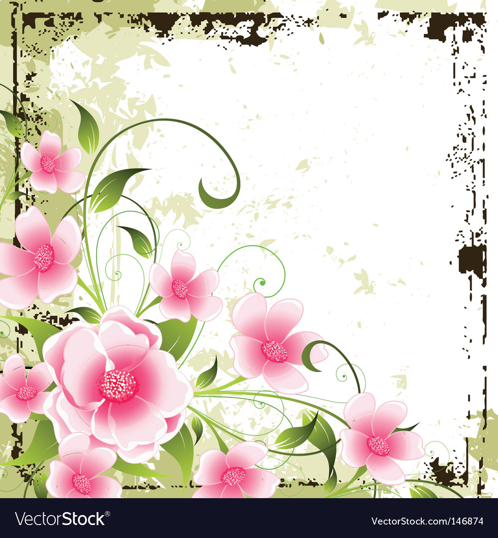 Grunge floral background vector | Price: 1 Credit (USD $1)