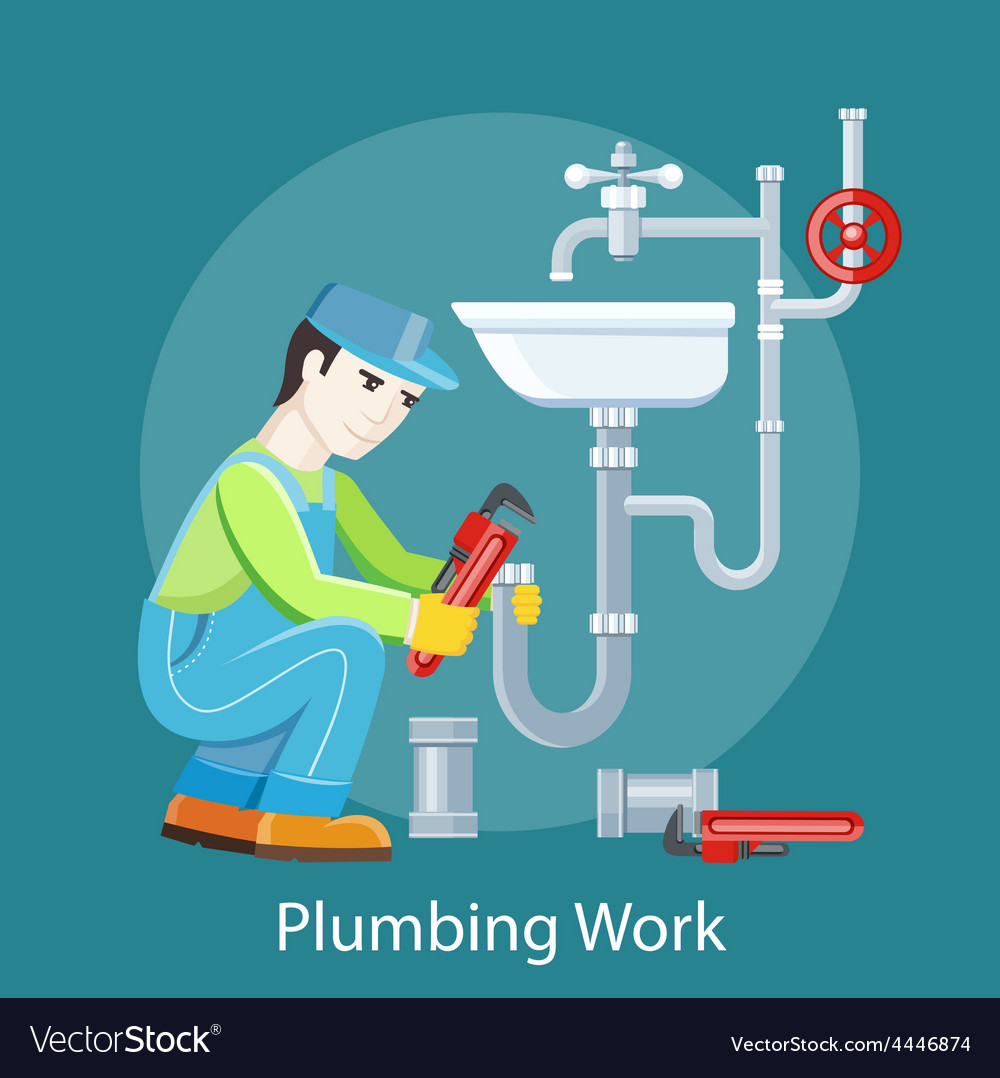 Plumbing work concept vector | Price: 1 Credit (USD $1)