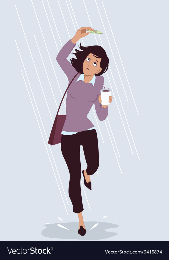 Saving for a rainy day vector | Price: 1 Credit (USD $1)