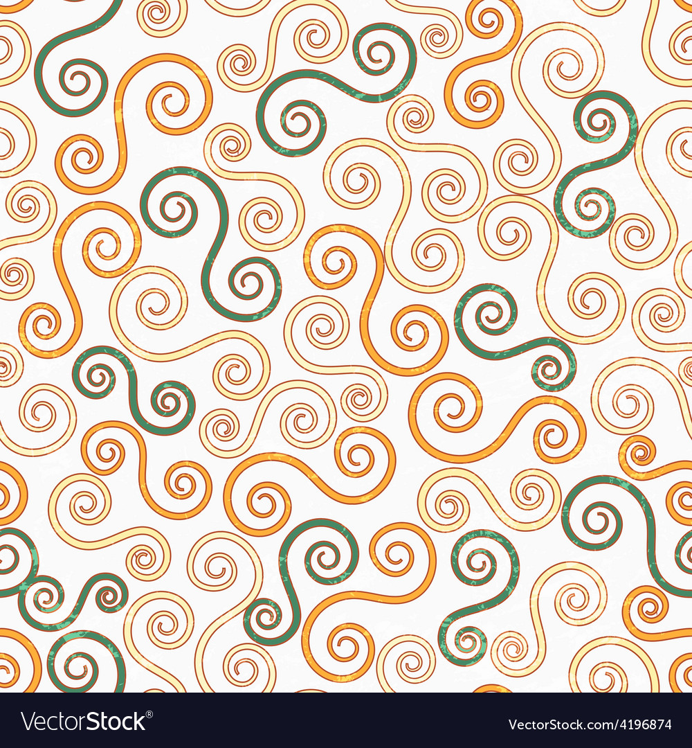 Vintage swirls seamless pattern with grunge effect vector | Price: 1 Credit (USD $1)