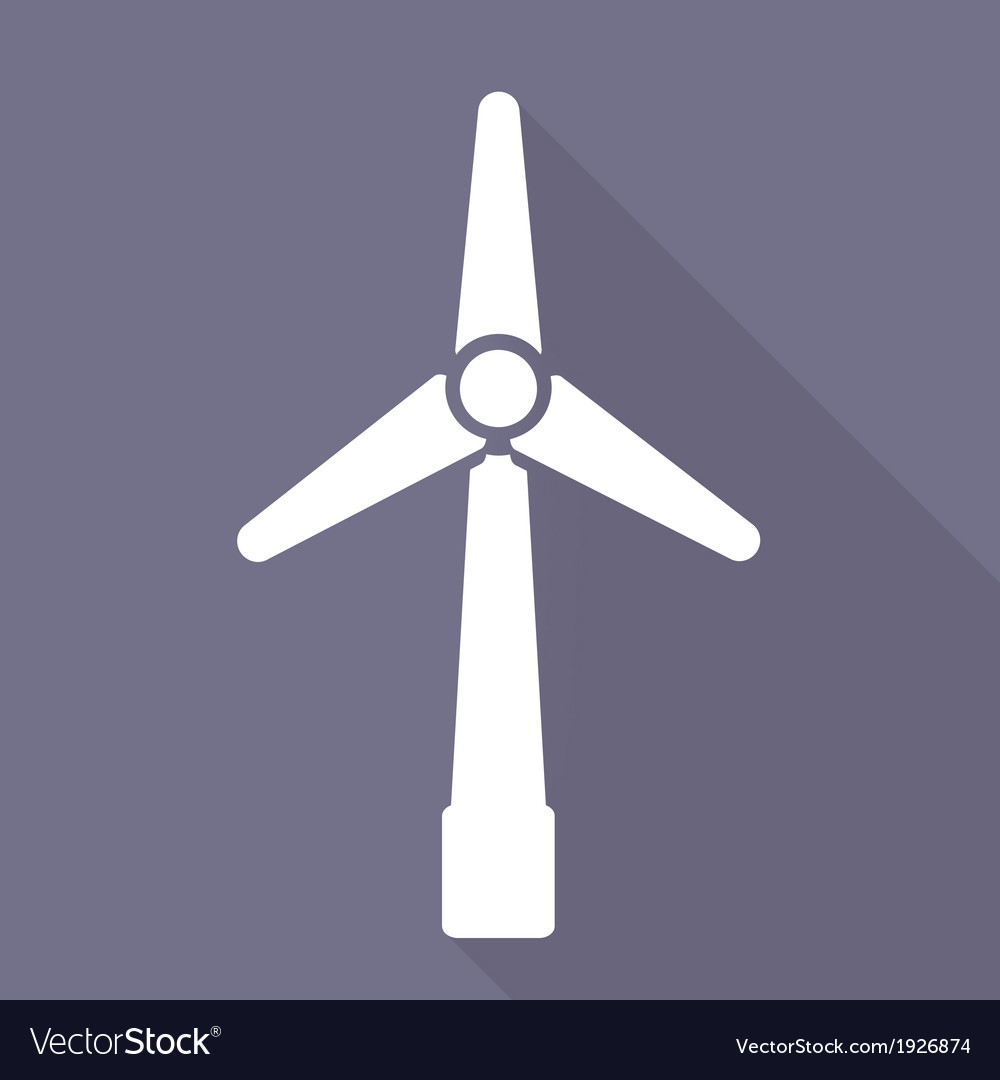 Wind turbine icon eco concept vector | Price: 1 Credit (USD $1)