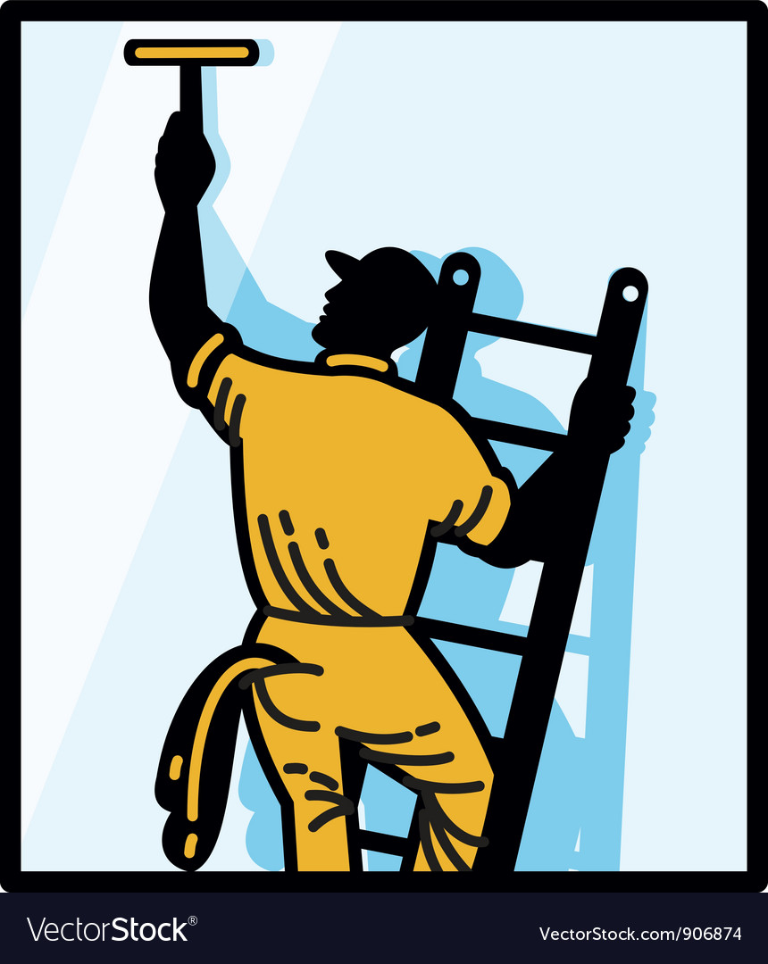 Window cleaner worker vector | Price: 1 Credit (USD $1)