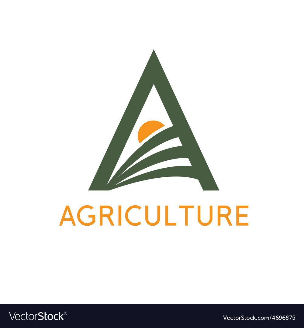 Agriculture monogram vector   Price: 1 Credit (USD $1)