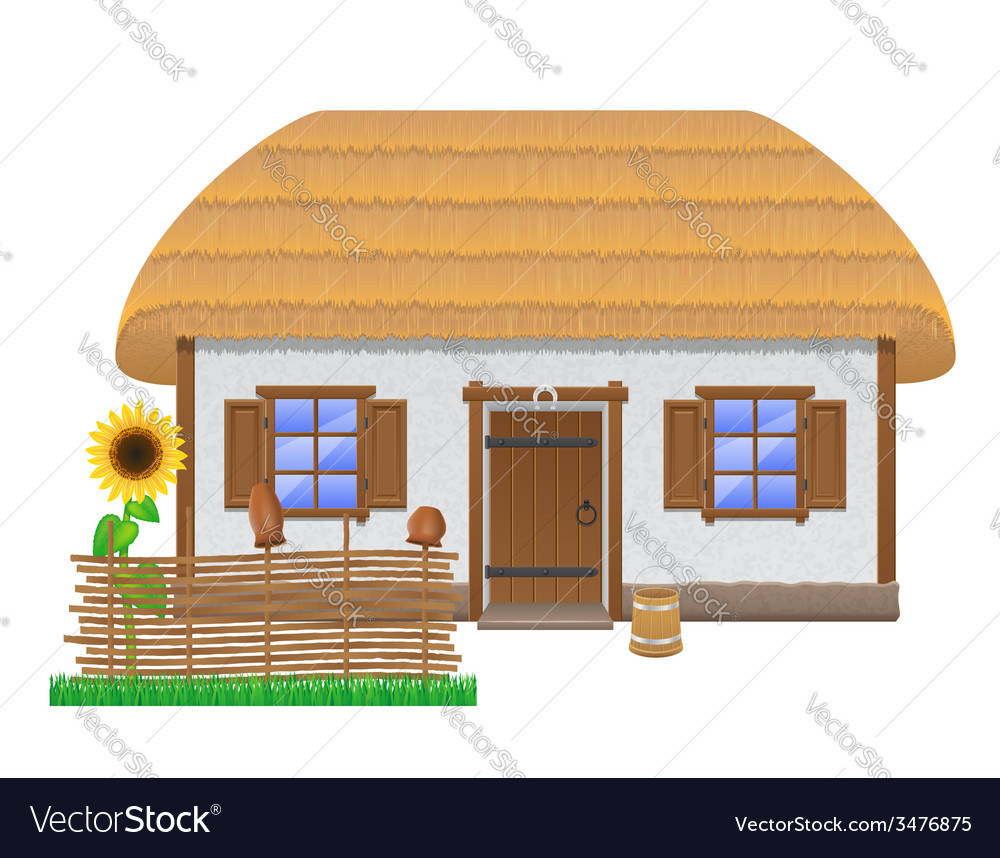 Ancient farmhouse 02 vector | Price: 1 Credit (USD $1)