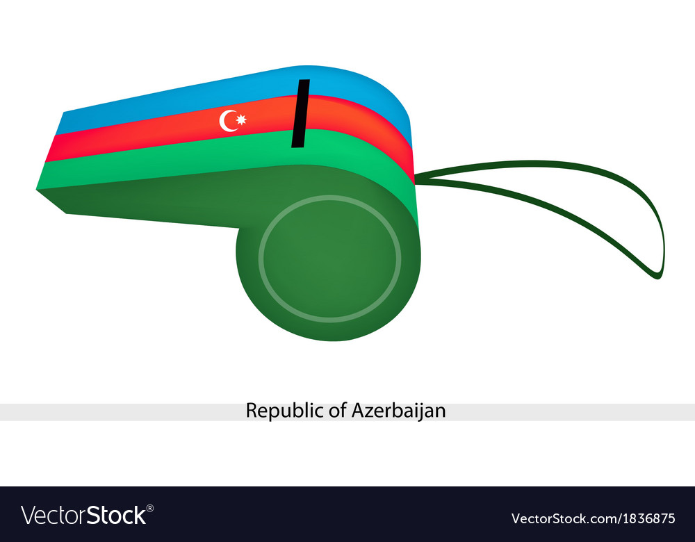 Blue red and green whistle of azerbaijan vector | Price: 1 Credit (USD $1)