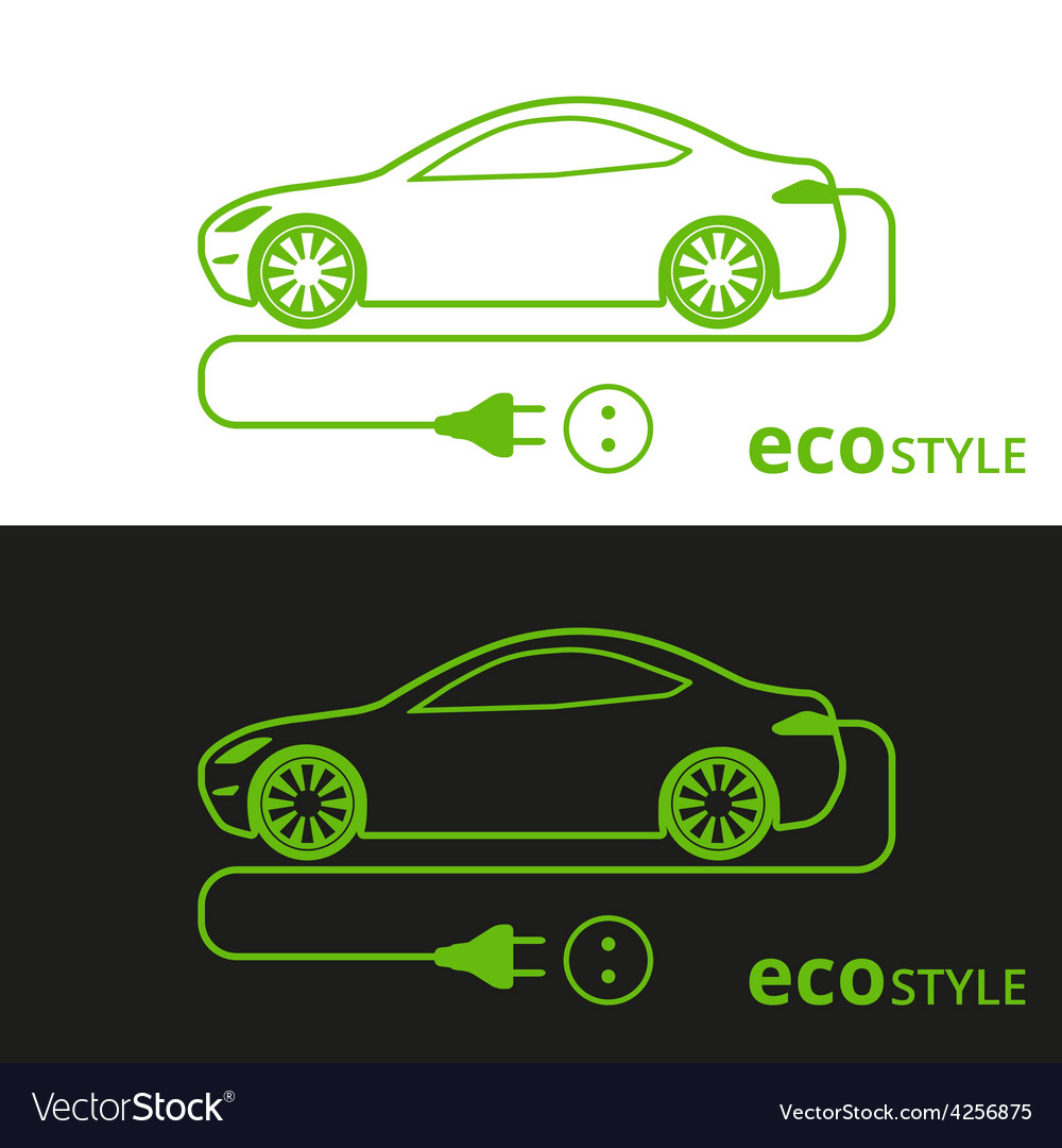 Eco style car vector   Price: 1 Credit (USD $1)
