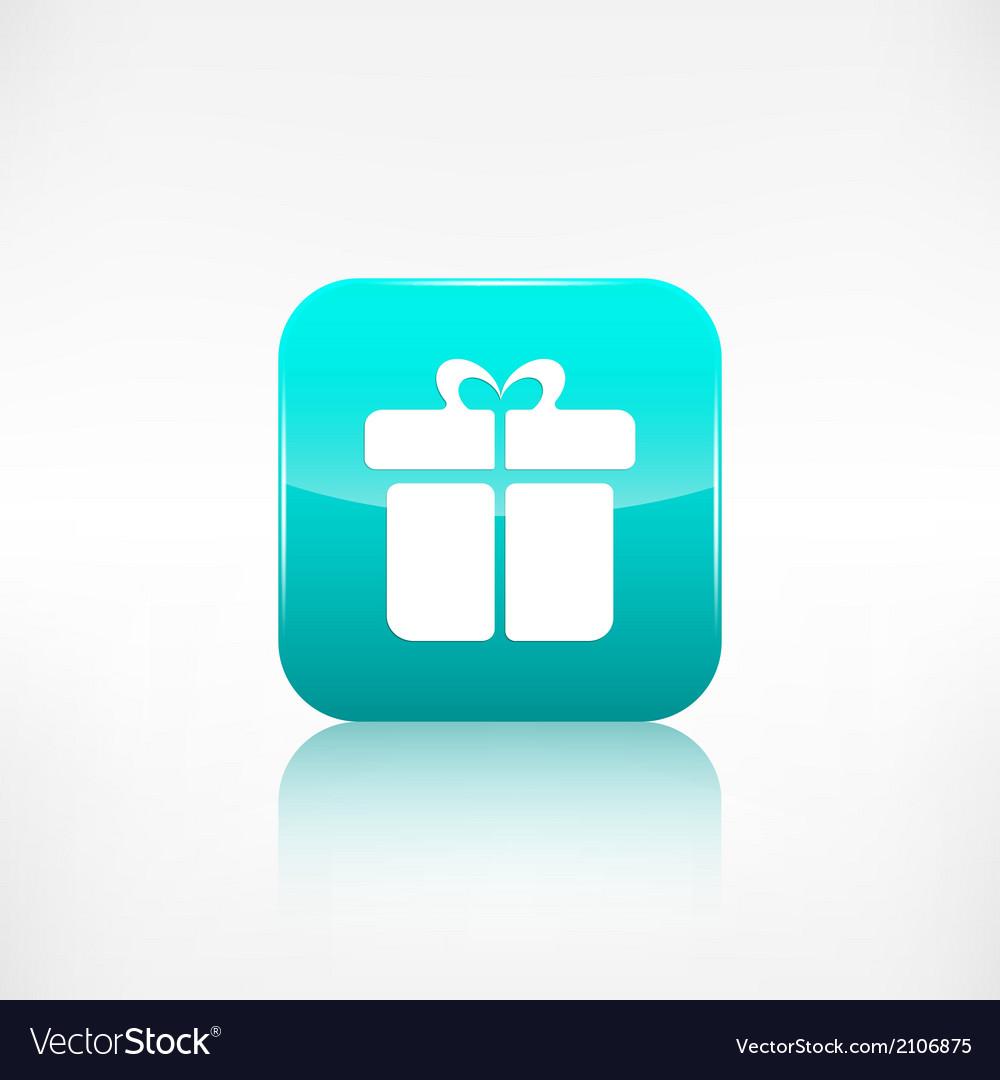 Gift box icon application button vector | Price: 1 Credit (USD $1)