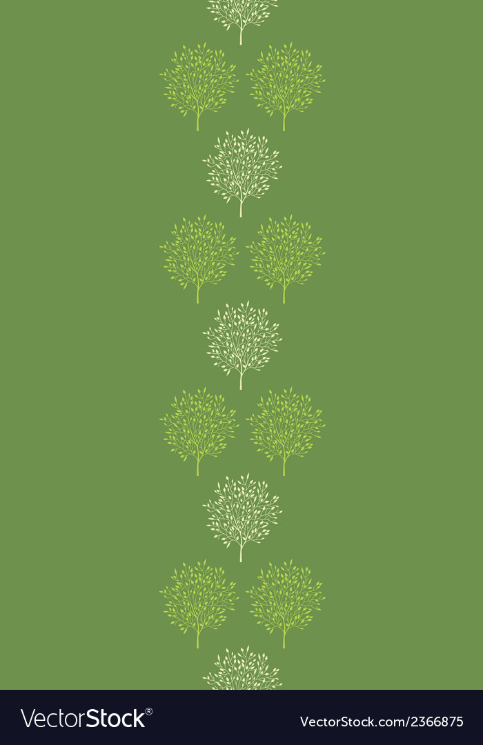Green trees stripes vertical seamless pattern vector | Price: 1 Credit (USD $1)