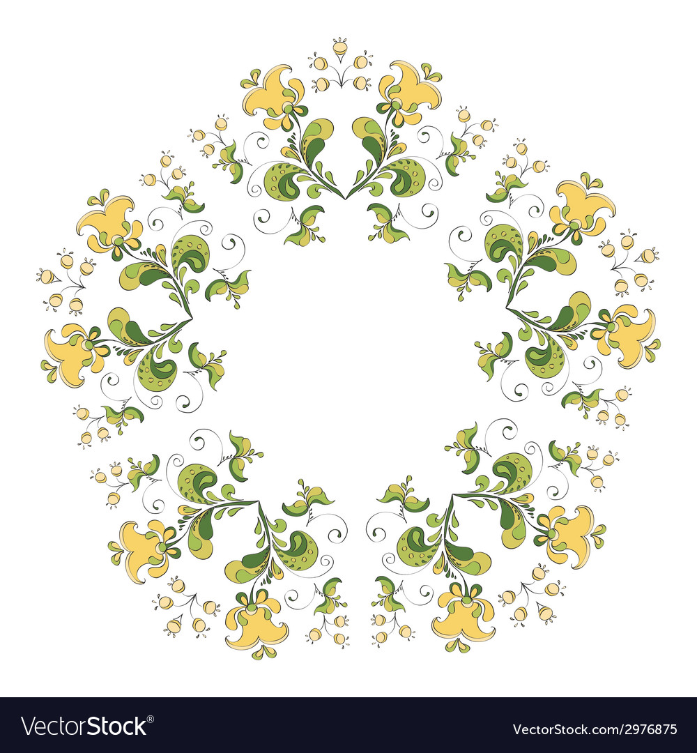 Ornate round lace pattern vector | Price: 1 Credit (USD $1)