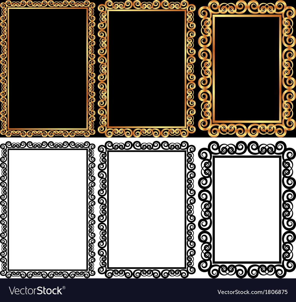 Rectangular frames vector | Price: 1 Credit (USD $1)