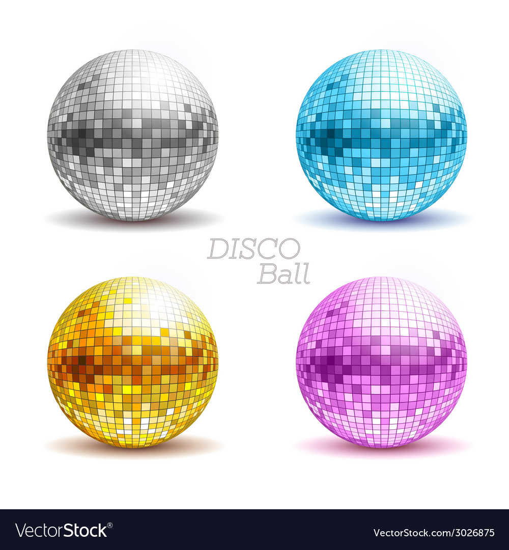 Set of disco balls vector | Price: 1 Credit (USD $1)