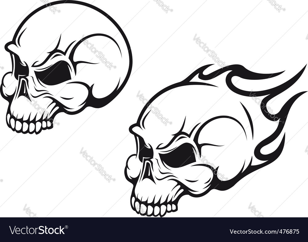 Skulls tattoo vector | Price: 1 Credit (USD $1)