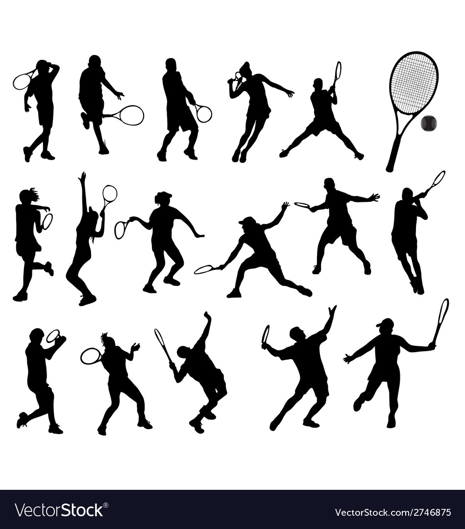 Tennis player 5 vector | Price: 1 Credit (USD $1)