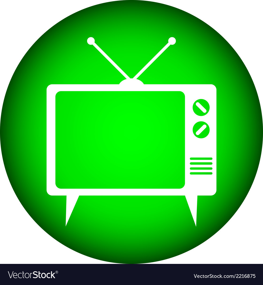 Tv button vector | Price: 1 Credit (USD $1)