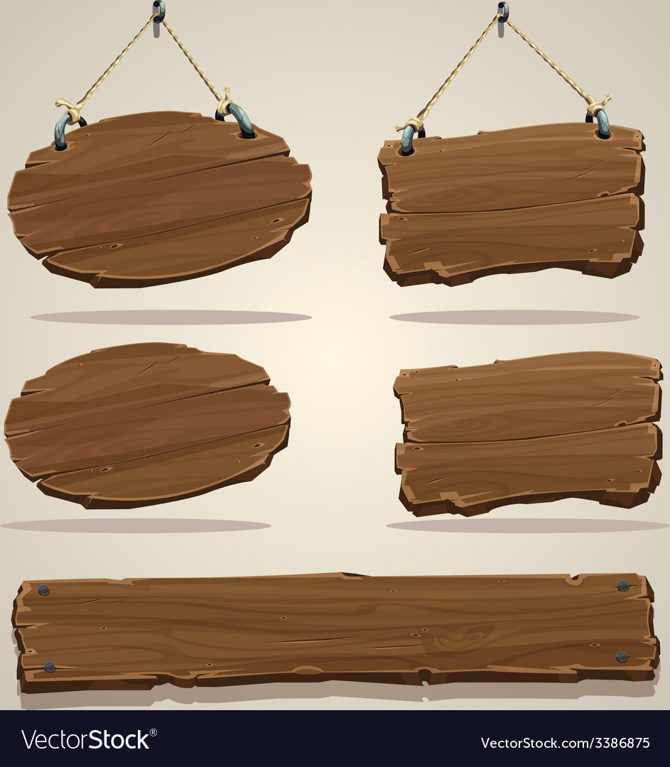 Wood board on the rope vector | Price: 3 Credit (USD $3)
