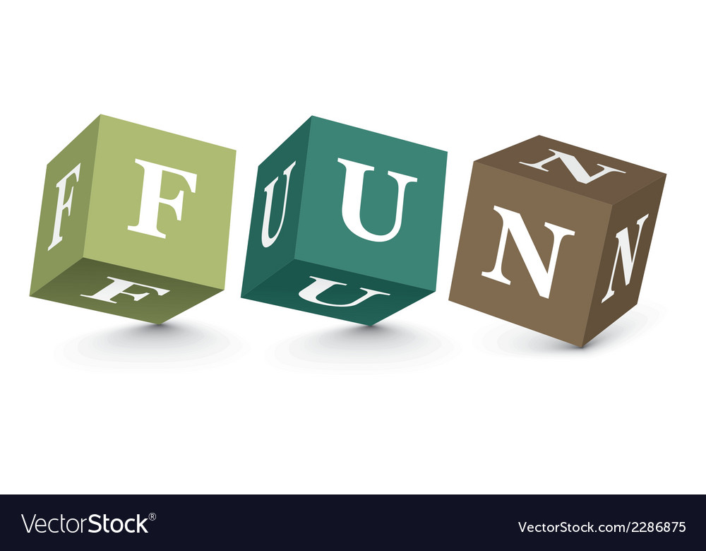 Word fun written with alphabet blocks vector | Price: 1 Credit (USD $1)
