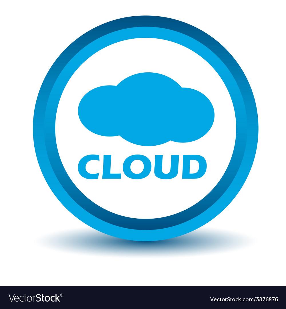 Blue cloud icon vector | Price: 1 Credit (USD $1)