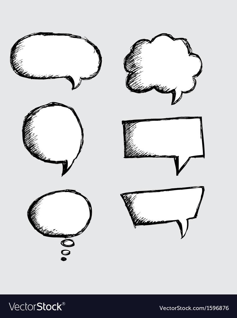 Comic speech bubbles vector | Price: 1 Credit (USD $1)