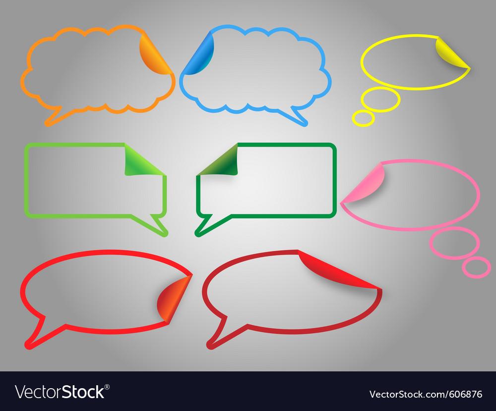Dialog bubbles vector | Price: 1 Credit (USD $1)
