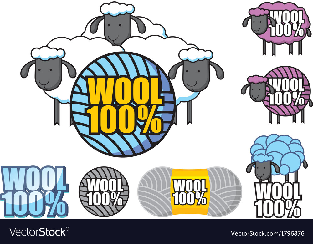 Emblem of wool sheep vector | Price: 1 Credit (USD $1)