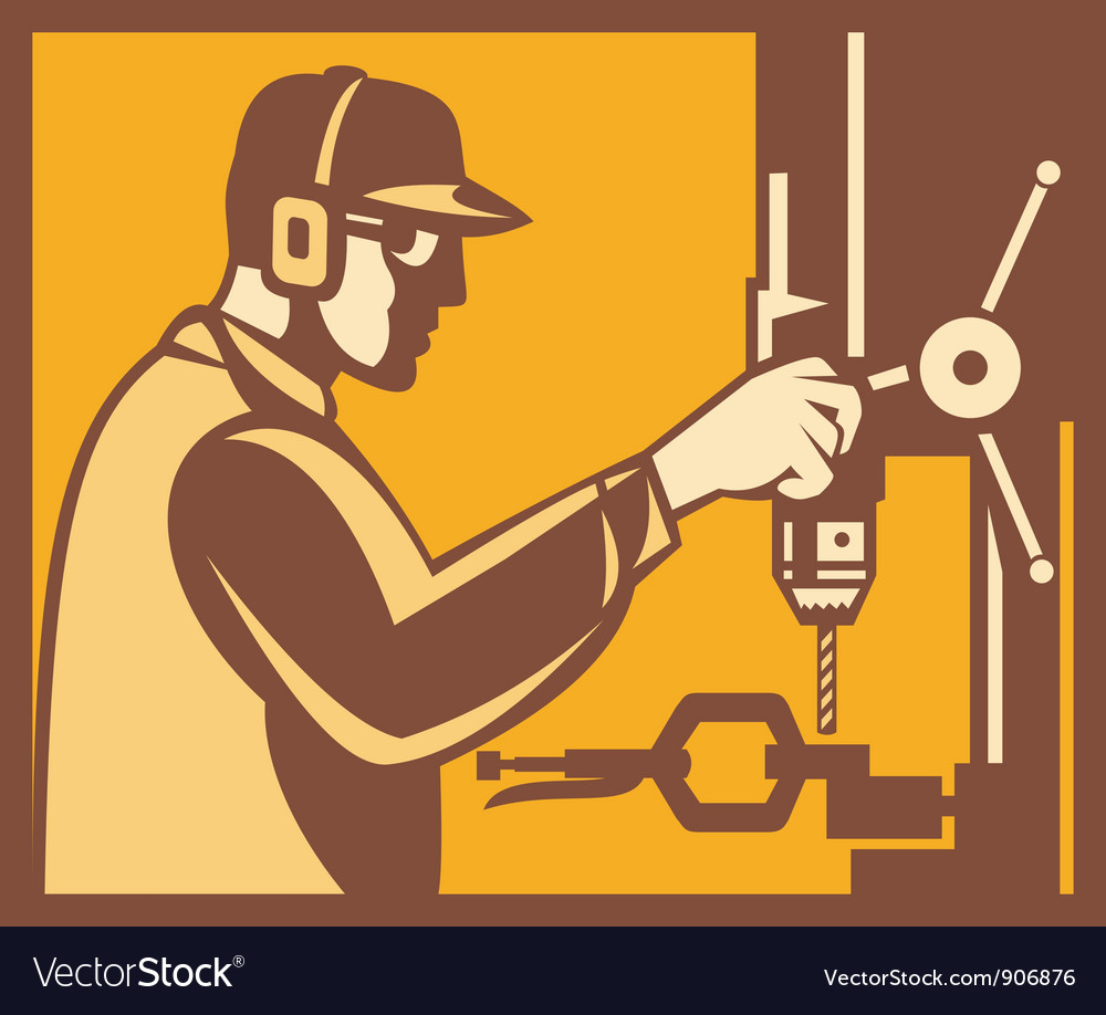 Factory worker operator vector | Price: 1 Credit (USD $1)