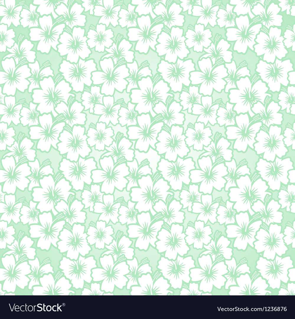 Floral seamless hibiscus pattern vector | Price: 1 Credit (USD $1)
