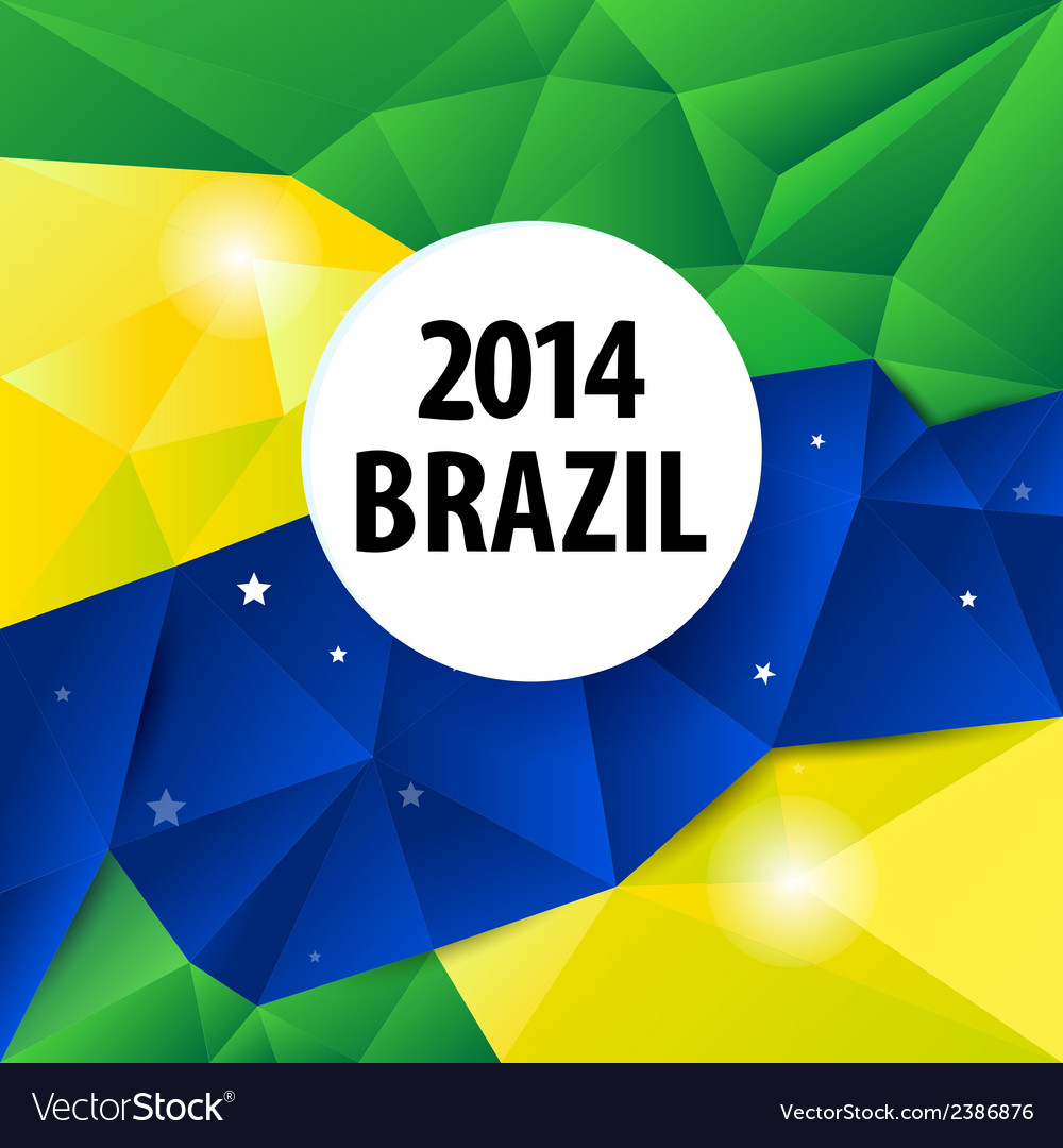 Geometric brazil 2014 background vector | Price: 1 Credit (USD $1)