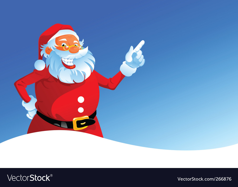 Happy santa on winter background vector   Price: 3 Credit (USD $3)