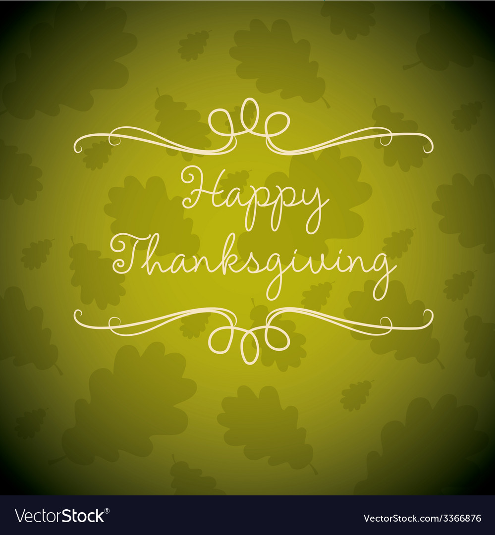 Happy thanksgiving card in format vector | Price: 1 Credit (USD $1)