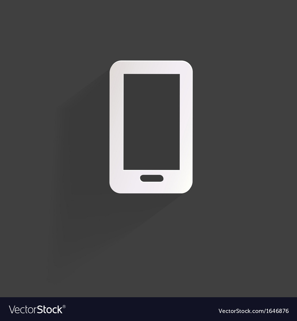 Phone web iconflat design vector | Price: 1 Credit (USD $1)