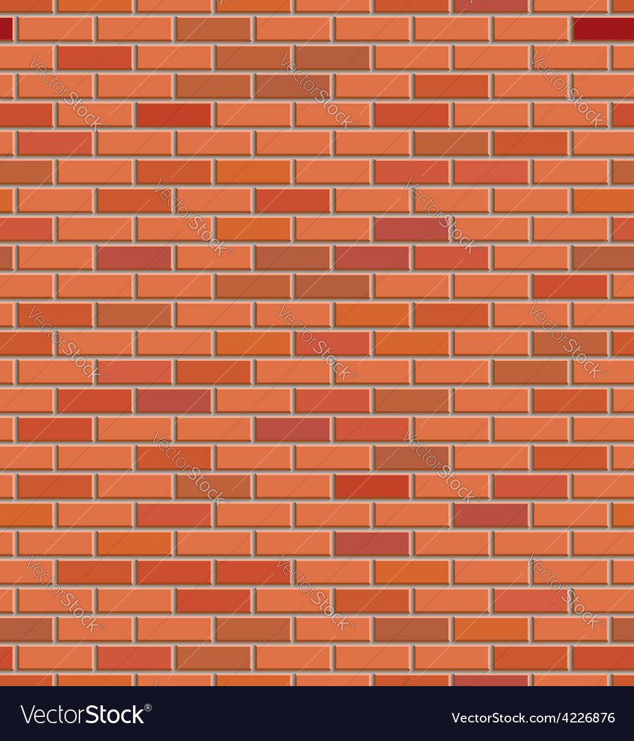 Red brick wall background vector | Price: 1 Credit (USD $1)