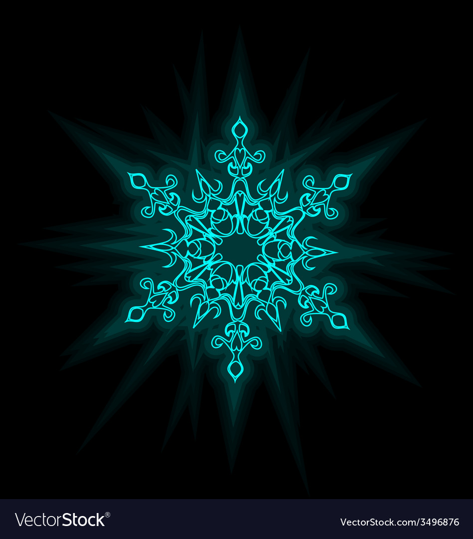 Self-illuminated snowflake vector | Price: 1 Credit (USD $1)