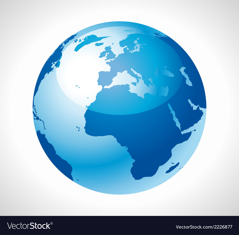 Blue earth globe stock free vector | Price: 1 Credit (USD $1)