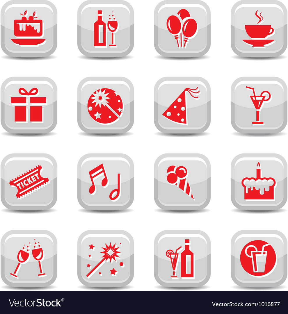 Celebrate icon set vector | Price: 1 Credit (USD $1)