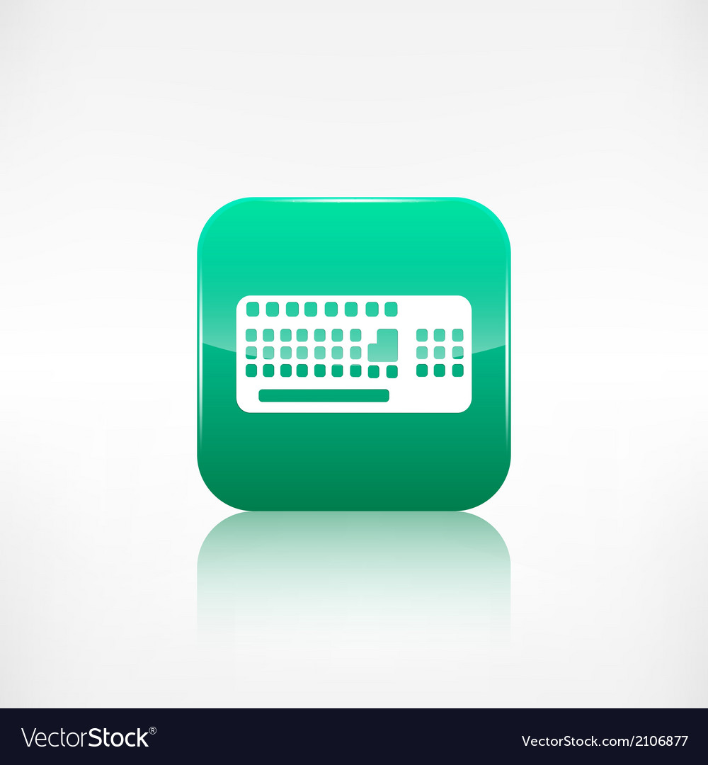 Computer keyboard web icon application button vector | Price: 1 Credit (USD $1)