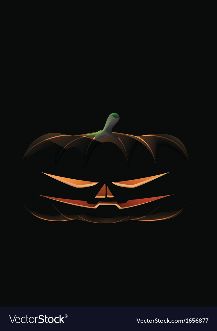 Dark pumpkin preview vector | Price: 1 Credit (USD $1)