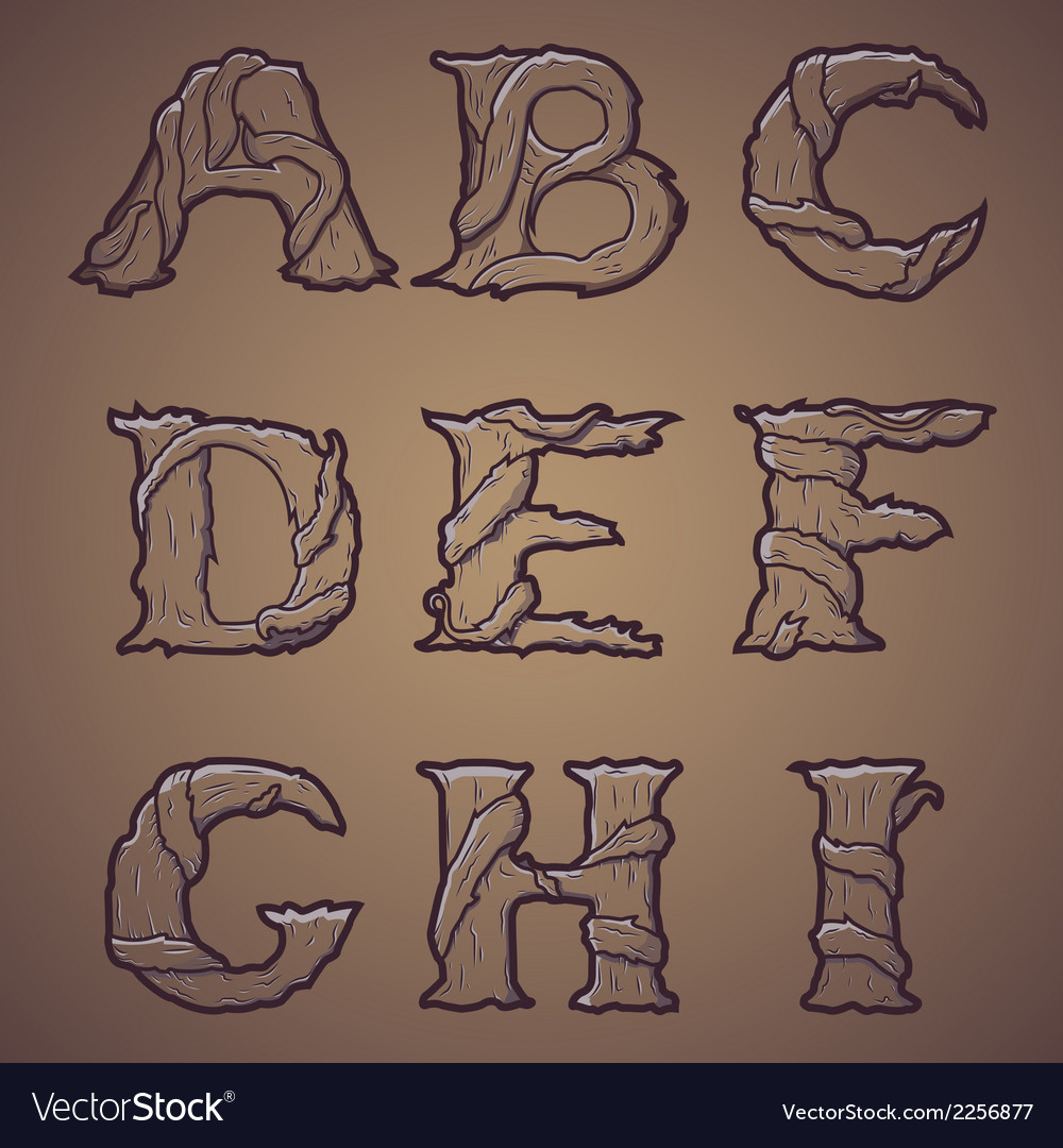 Halloween decorative alphabet part 1 vector | Price: 1 Credit (USD $1)