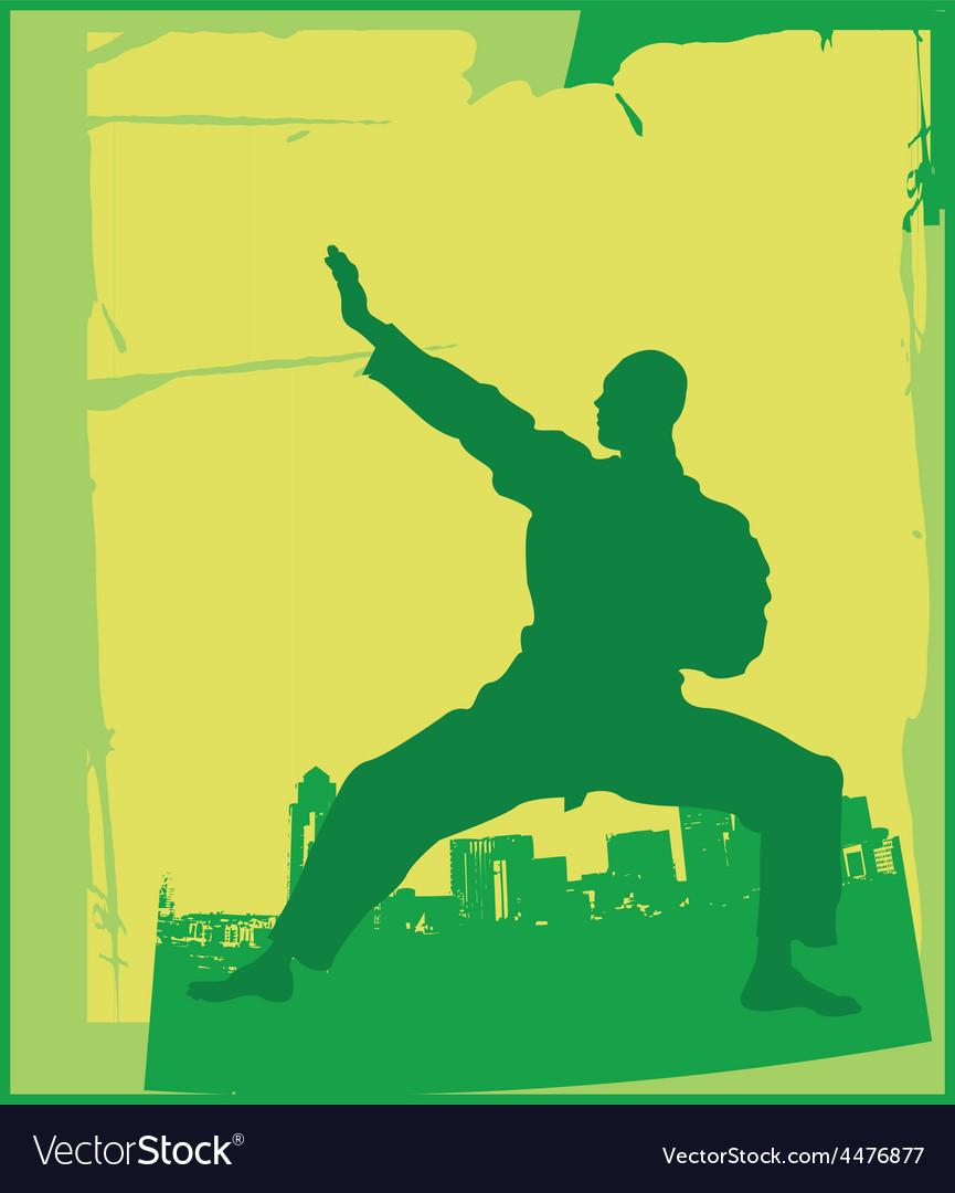 Karate pose vector | Price: 1 Credit (USD $1)