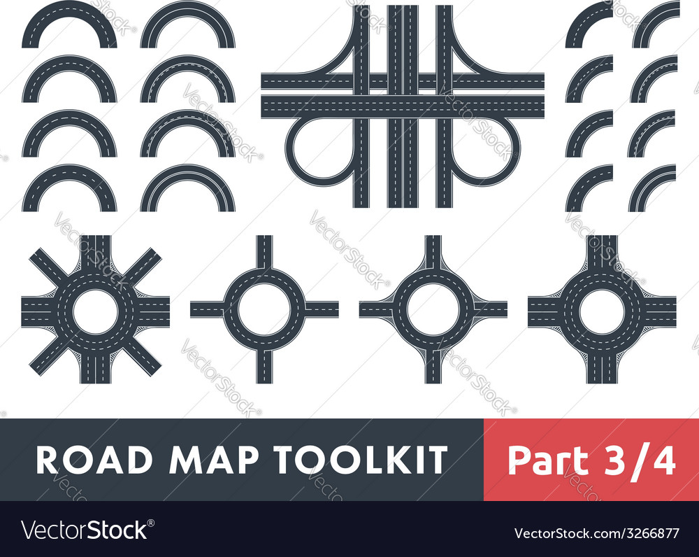 Road map toolkit vector | Price: 1 Credit (USD $1)