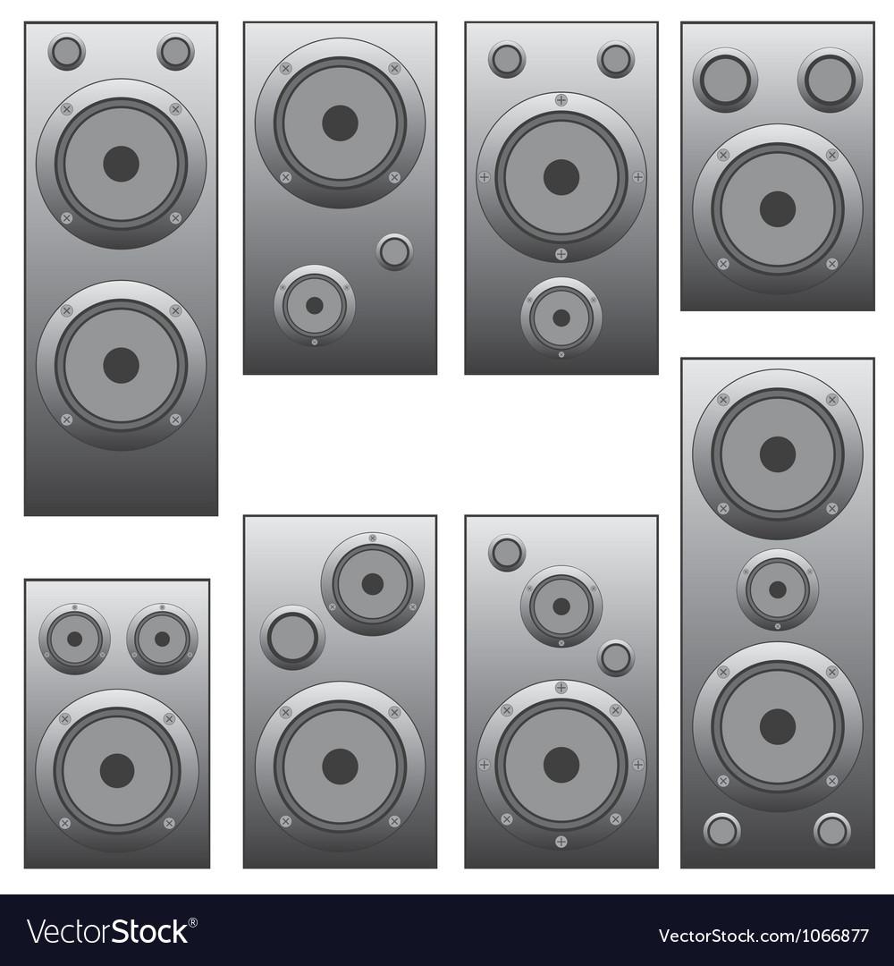 Set of audio speakers vector | Price: 1 Credit (USD $1)