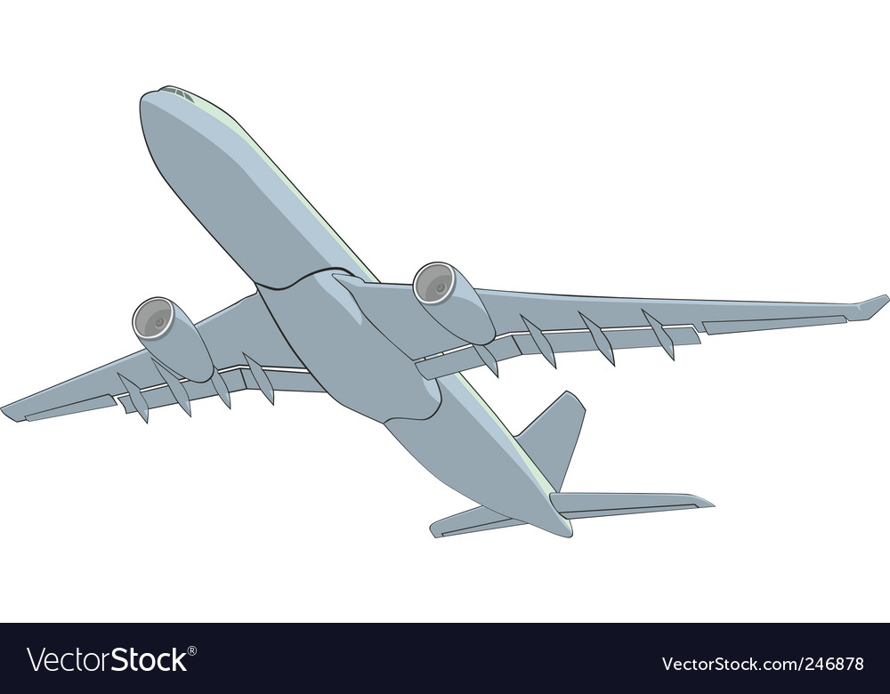 Illustration airliner vector | Price: 1 Credit (USD $1)