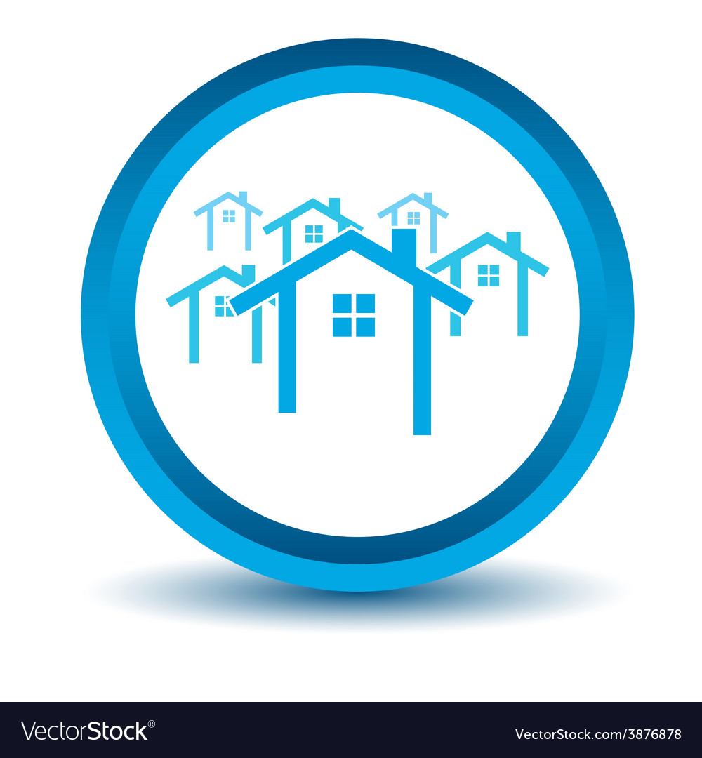 Blue house icon vector   Price: 1 Credit (USD $1)