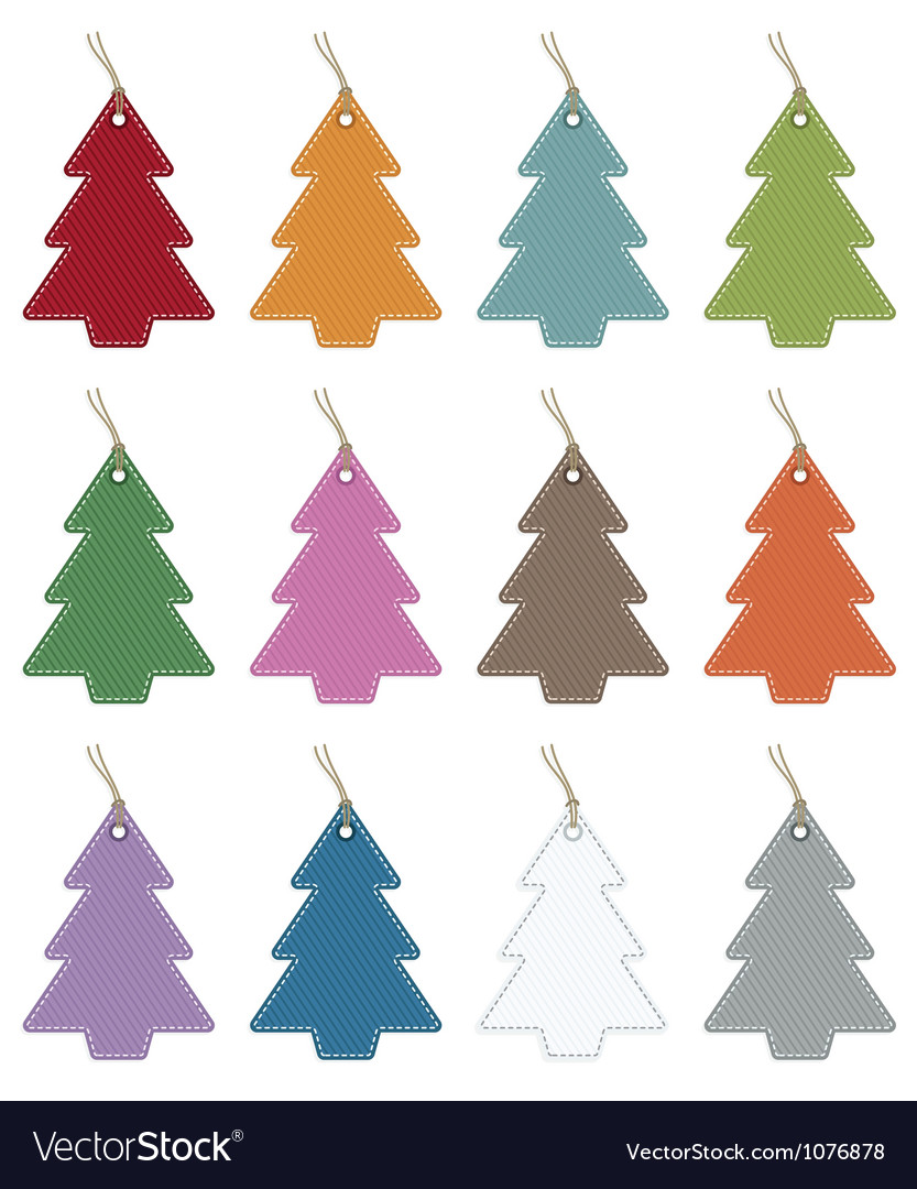 Christmas tree tags vector | Price: 1 Credit (USD $1)
