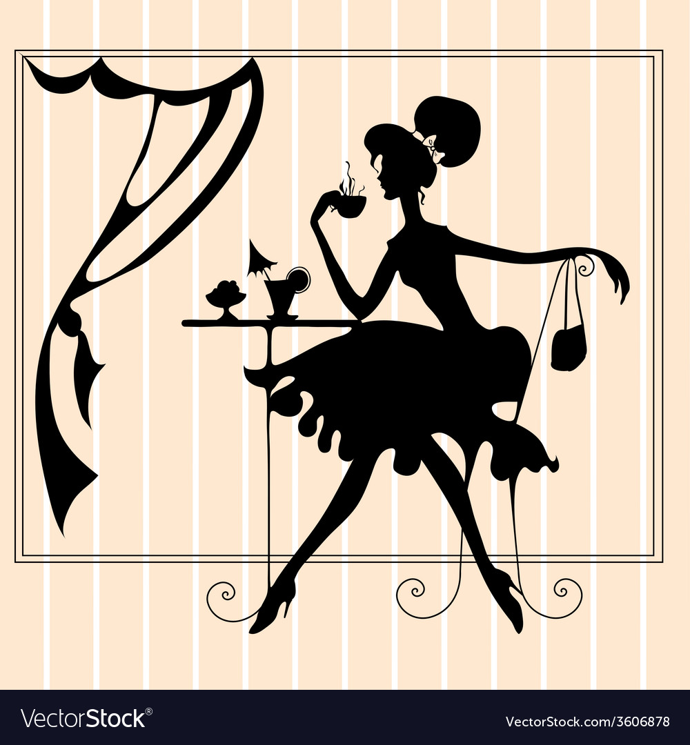 Featuring the silhouette of a woman vector | Price: 1 Credit (USD $1)