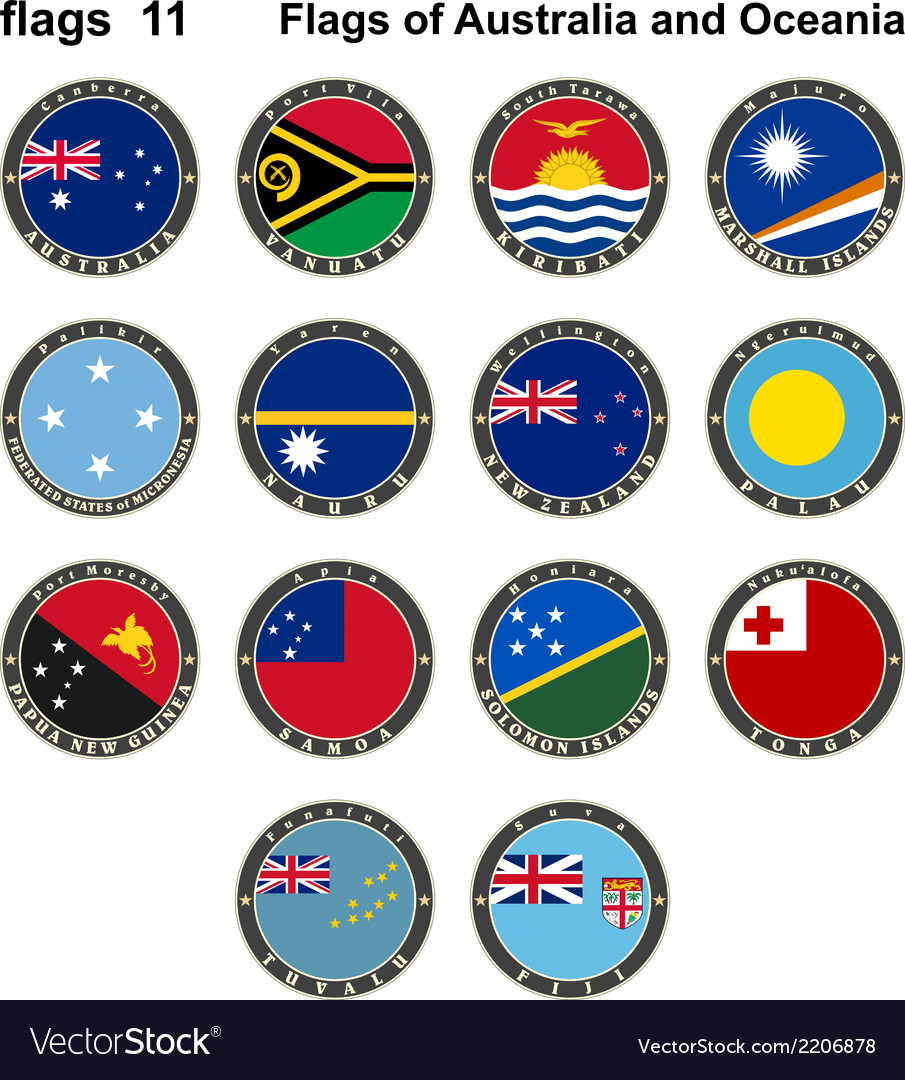 Flags of australia and oceania vector | Price: 1 Credit (USD $1)