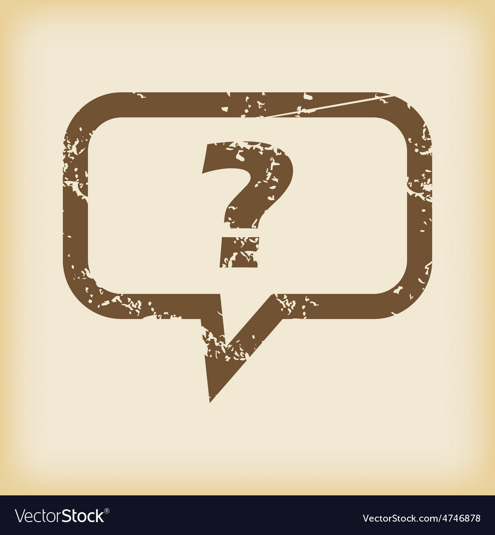Grungy question icon vector | Price: 1 Credit (USD $1)