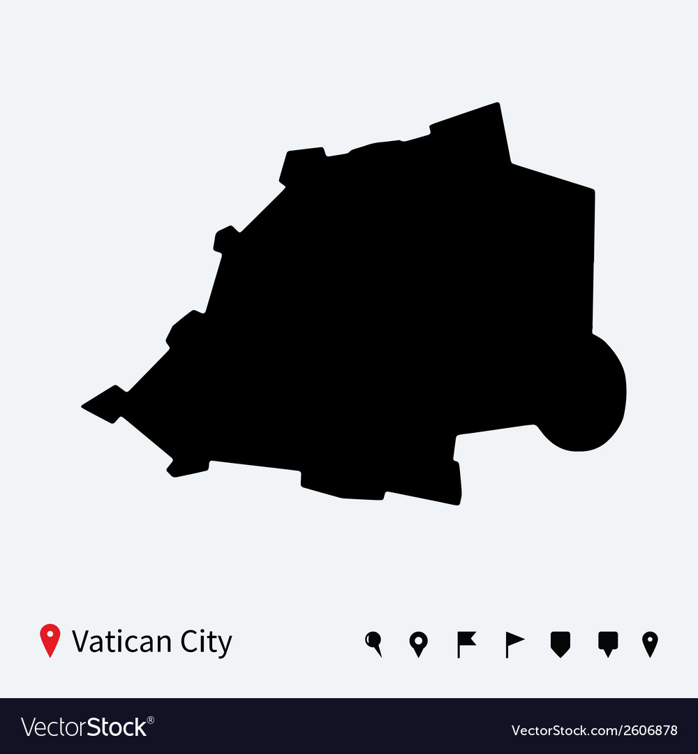 High detailed map of vatican city with navigation vector | Price: 1 Credit (USD $1)